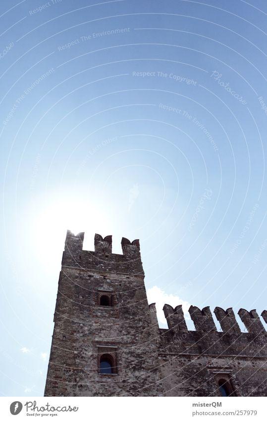 My Castle. Himmel Mauer Kraft Turm Vergangenheit Burg oder Schloss Ruine Rest Befestigung Festung Mittelalter Gardasee Zinnen Epoche wehrhaft