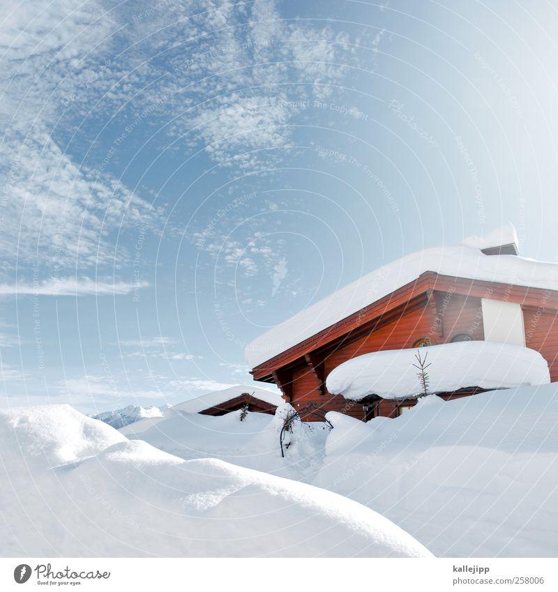 watte Freizeit & Hobby Umwelt Natur Landschaft Winter Hügel Alpen Berge u. Gebirge Gipfel Schneebedeckte Gipfel Dorf Häusliches Leben Hütte kalt Schweiz