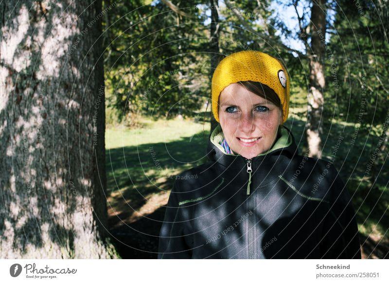 Outdoor Leben Wohlgefühl Zufriedenheit Freizeit & Hobby wandern Mensch feminin Junge Frau Jugendliche Erwachsene Kopf Haare & Frisuren Gesicht Auge Nase Mund
