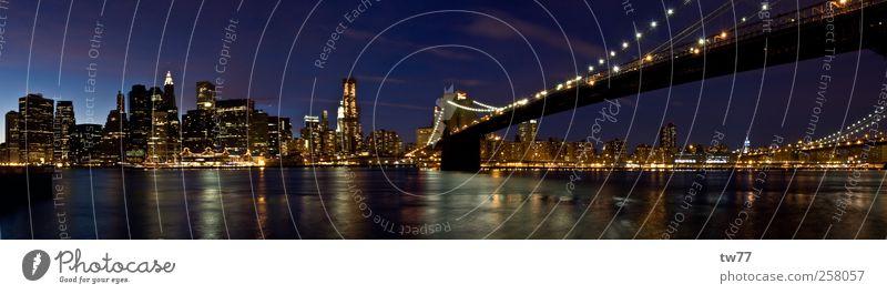 Brooklyn Bridge Ferien & Urlaub & Reisen Tourismus Freiheit Sightseeing Städtereise New York City Manhattan Skyline Hochhaus Brücke Stimmung Farbfoto
