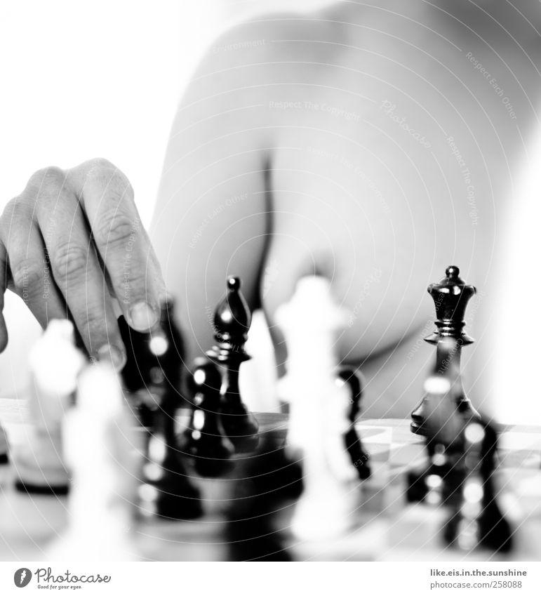 Lust auf eine Partie Schach? Freizeit & Hobby feminin Junge Frau Jugendliche Erwachsene Partner Körper Haut Frauenbrust Hand Finger 1 Mensch Spielen Erotik