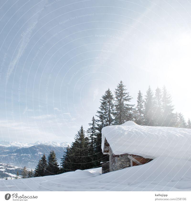 hüttengaudi Natur Ferien & Urlaub & Reisen Landschaft Haus Ferne Winter Berge u. Gebirge Umwelt Schnee Freiheit Lifestyle Felsen Wohnung Tourismus