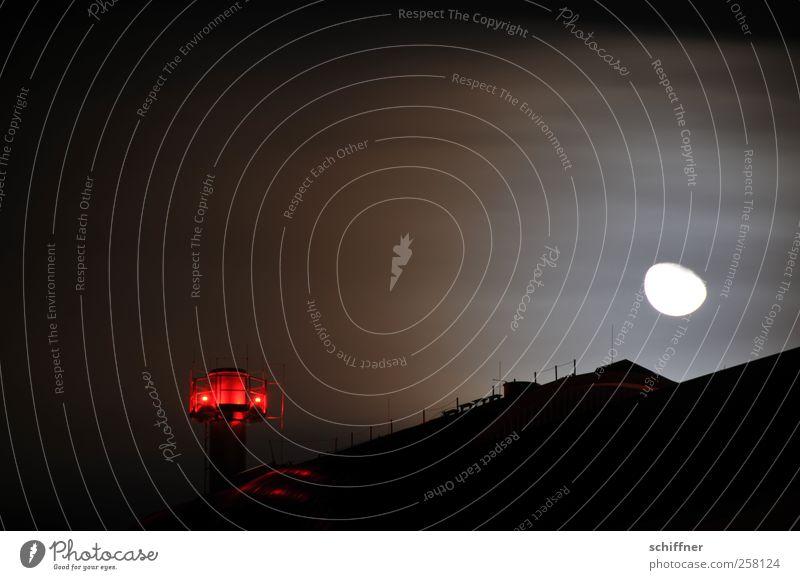 Mondsturm II rot Wolken dunkel Wetter Beleuchtung Wind Sturm Nachthimmel unheimlich schlechtes Wetter Beleuchtungselement Mondschein Warnleuchte Rotlicht