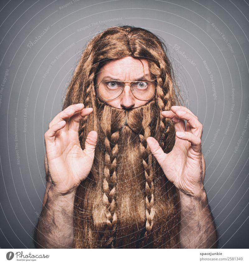 Wikie der Wikinger Mensch maskulin Junger Mann Jugendliche Erwachsene 1 30-45 Jahre blond rothaarig langhaarig Perücke Vollbart Behaarung Kommunizieren werfen