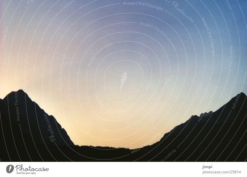 gaistal Wolken Berge u. Gebirge Abenddämmerung Schattenspiel