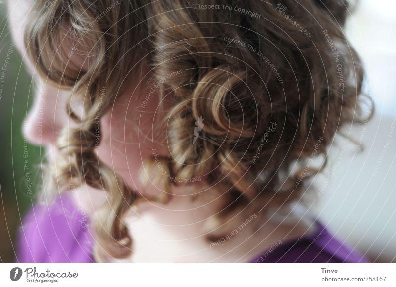 engelig (2) feminin Mädchen Junge Frau Jugendliche 1 Mensch 8-13 Jahre Kind Kindheit 13-18 Jahre Haare & Frisuren blond Locken natürlich niedlich schön