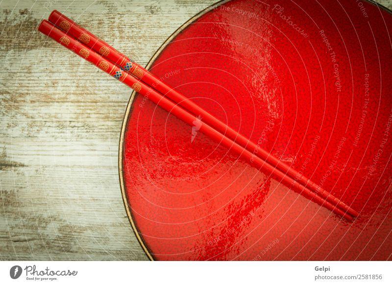 Orientalische Keramikplatte und Essstäbchen Mittagessen Abendessen Teller Schalen & Schüsseln Stil Design Leben Dekoration & Verzierung Tisch Küche Restaurant