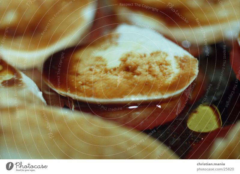 Tomaten & Morzarella Käse Essig Ernährung Balsamico Makroaufnahme