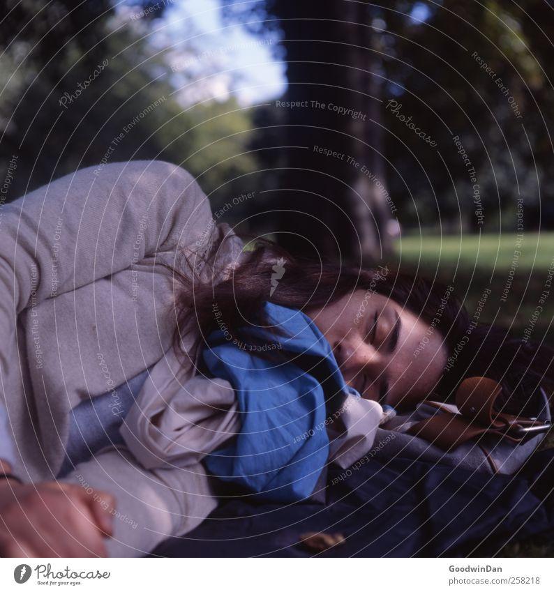 Hyde Park. Mensch feminin Junge Frau Jugendliche Erwachsene 1 Umwelt Natur Erde Sonne Sonnenlicht Klima Wetter Schönes Wetter Baum Gras Stadt atmen Erholung