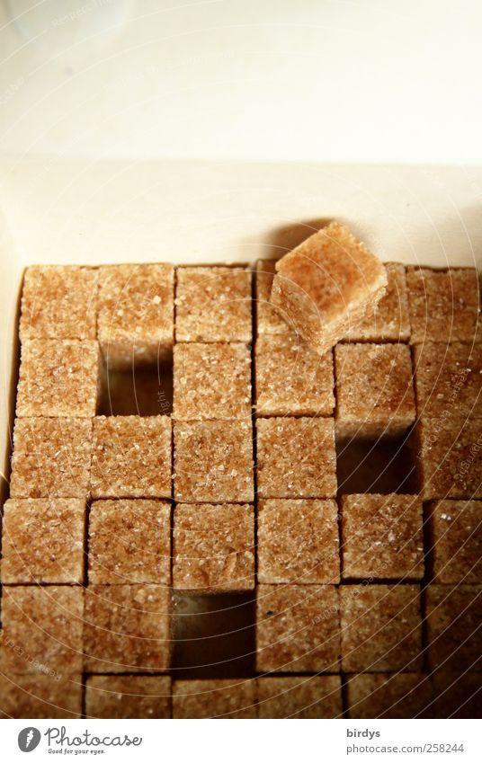 Brown sugar Süßwaren warten braun gold weiß genießen Zucker Würfelzucker Brauner Zucker viele 1 3 Lücke Ordnung Ernährung Kalorie Kalorienreich Kohlenhydrate
