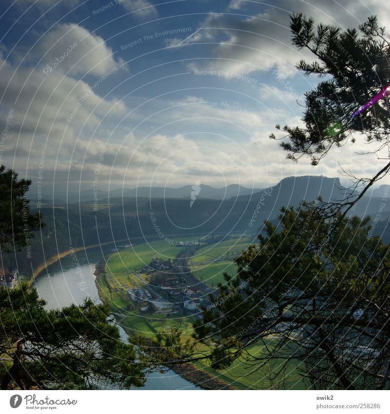 Elbbogen Himmel Natur blau schön Baum Pflanze Ferien & Urlaub & Reisen Wolken Ferne Umwelt Landschaft Berge u. Gebirge Freiheit Gras Horizont Ausflug