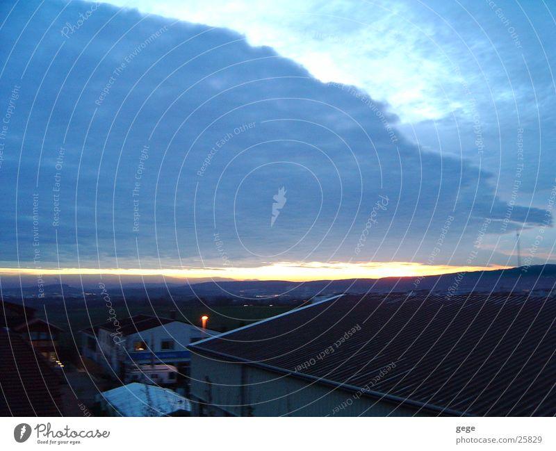 Sonnenaufgang Wolken Sonnenstrahlen Himmel Morgen