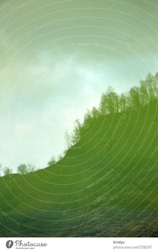 Green rocks Himmel Natur Wasser grün Baum Winter Herbst dunkel Umwelt Landschaft Felsen außergewöhnlich Hügel bizarr Surrealismus Berghang