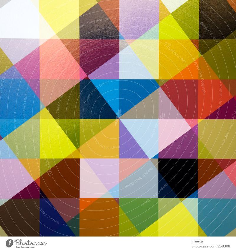 Kreuzundquer schön Farbe Stil Linie Hintergrundbild Design modern verrückt außergewöhnlich Coolness Lifestyle viele Kreativität chaotisch trendy Doppelbelichtung