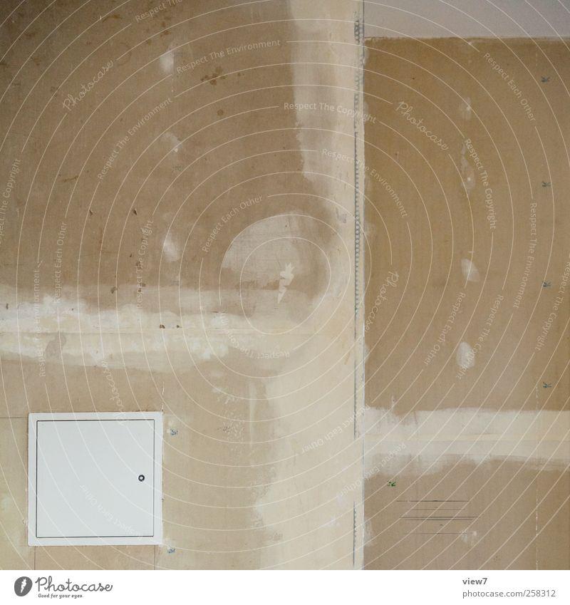 Kästchen alt Wand Mauer braun Innenarchitektur Fassade authentisch kaputt einzigartig Umzug (Wohnungswechsel) Putz Renovieren Reparatur einrichten Wasserrohr
