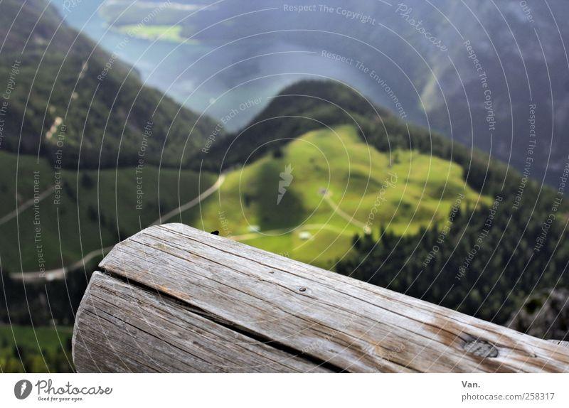 *50* schwindelfrei Natur Wasser grün Baum Ferien & Urlaub & Reisen Wiese Landschaft oben Berge u. Gebirge Holz Gras Wärme See wandern hoch Alpen