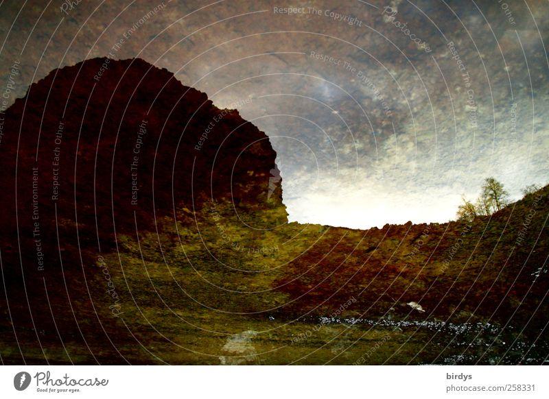 Planet auf Kollisionskurs Umwelt Natur Landschaft Urelemente Wasser Herbst Winter Baum Hügel Felsen außergewöhnlich bedrohlich dunkel Zukunftsangst gefährlich