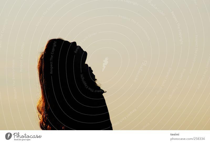 Himmelwärts Mensch feminin Junge Frau Jugendliche Haare & Frisuren 1 18-30 Jahre Erwachsene gelb gold Erholung Freiheit ruhig himmelwärts leuchten Sehnsucht