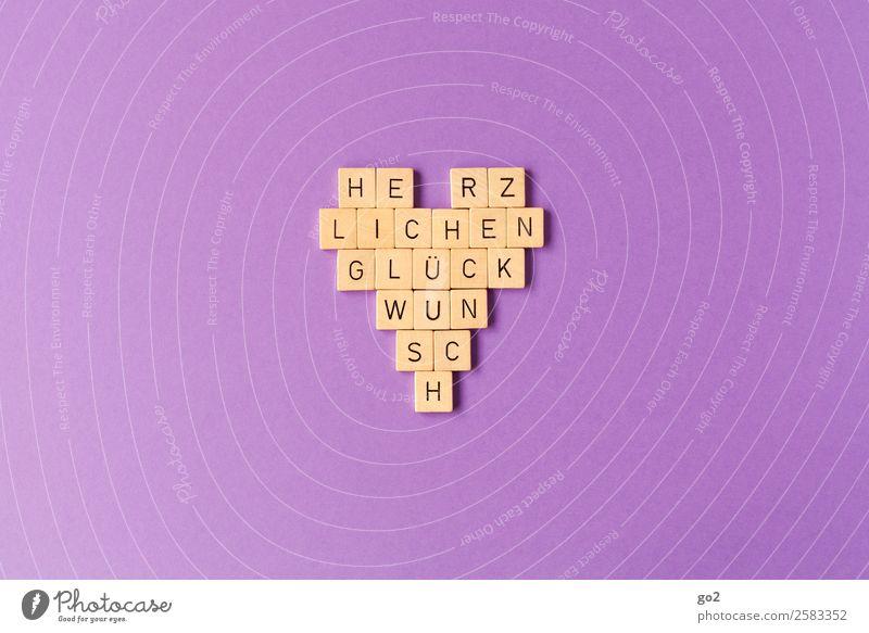 Herzlichen Glückwunsch Freizeit & Hobby Spielen Brettspiel Feste & Feiern Valentinstag Muttertag Hochzeit Geburtstag Taufe Schriftzeichen Fröhlichkeit violett