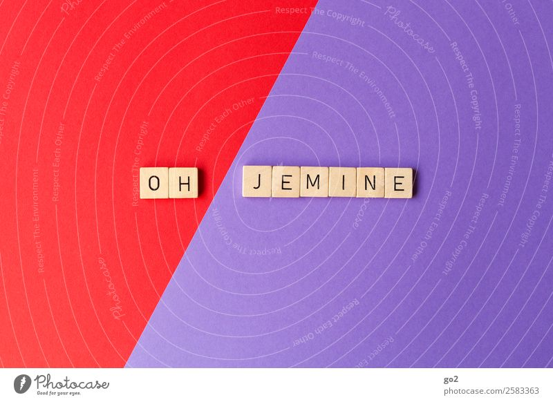 Oh Jemine! Spielen Brettspiel Papier Schriftzeichen alt lustig violett rot Überraschung Sorge Enttäuschung Erschöpfung Angst Stress Nervosität Ärger Glaube