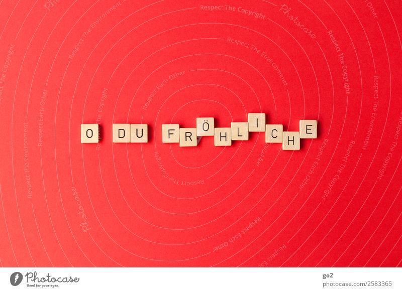 Weihnachtslied Weihnachten & Advent rot Freude Gefühle Glück Spielen Stimmung Schriftzeichen Musik Fröhlichkeit Lebensfreude Frieden Vorfreude singen Lied
