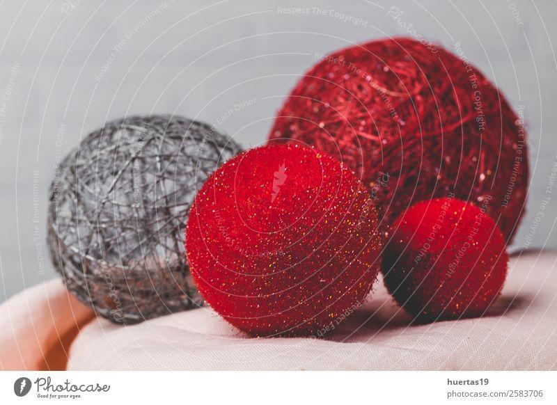 Weihnachtshintergrund mit Dekorationen elegant Stil Design Winter Dekoration & Verzierung Schreibtisch Weihnachten & Advent Silvester u. Neujahr Kunst rot