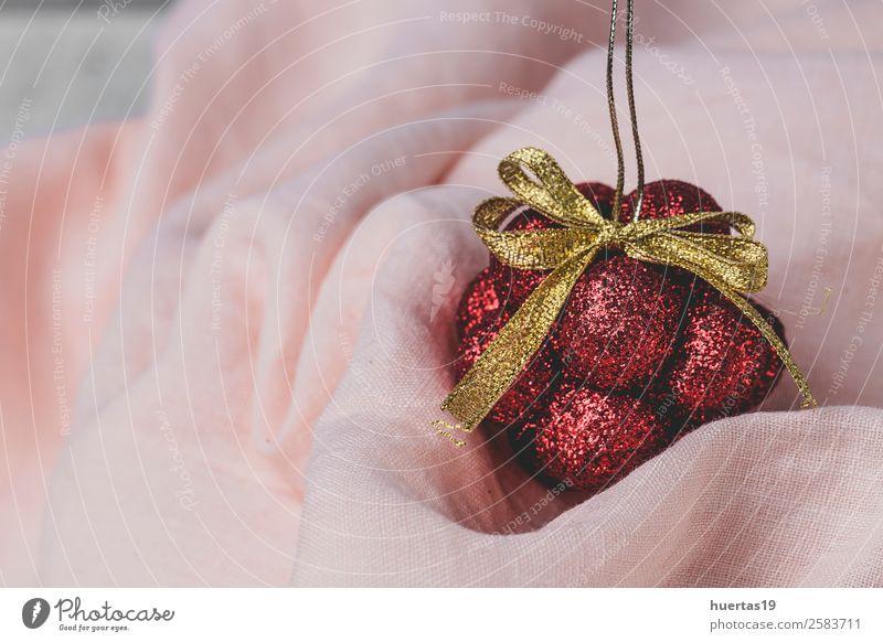 Weihnachtshintergrund mit Dekorationen Winter Dekoration & Verzierung Schreibtisch Feste & Feiern Weihnachten & Advent Silvester u. Neujahr Kunst weiß