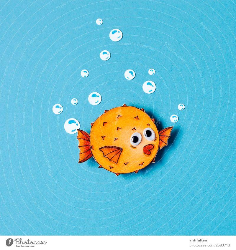 Kuno Design Freizeit & Hobby Basteln zeichnen Moosgummi Ferien & Urlaub & Reisen Abenteuer Sommer Meer Blubbern Umwelt Natur Klimawandel Tier Fisch Tiergesicht