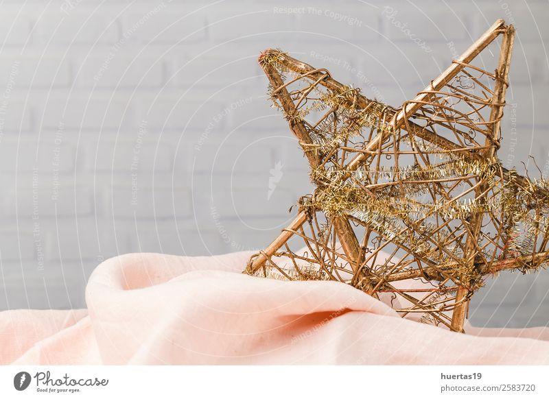 Weihnachtshintergrund Winter Dekoration & Verzierung Schreibtisch Weihnachten & Advent Silvester u. Neujahr Kunst gold weiß Ferien & Urlaub & Reisen Kreativität