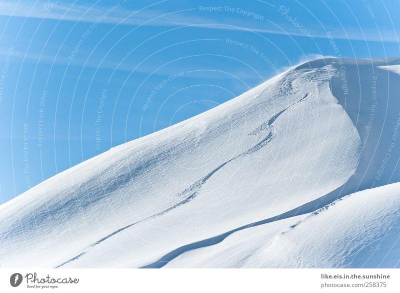 snowboarder-glück Natur Ferien & Urlaub & Reisen Einsamkeit Landschaft Winter Berge u. Gebirge Umwelt Schnee Sport Glück Schneefall Eis Freizeit & Hobby Ausflug