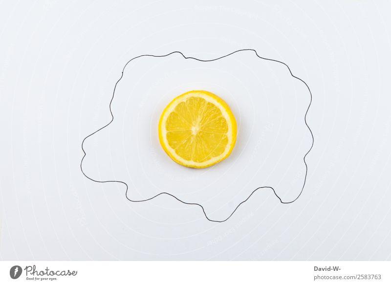 Zitronenei Lebensmittel Frucht Ernährung Essen Frühstück Bioprodukte Vegetarische Ernährung Diät Fasten Kunst Künstler Kunstwerk rund Spiegelei Ei Haushuhn