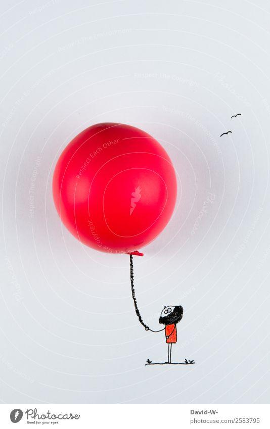 Luftballon Lifestyle elegant Leben Wohlgefühl Zufriedenheit Freizeit & Hobby Spielen Mensch Kind Jugendliche 1 Kunst beobachten selbstgemacht Freude festhalten