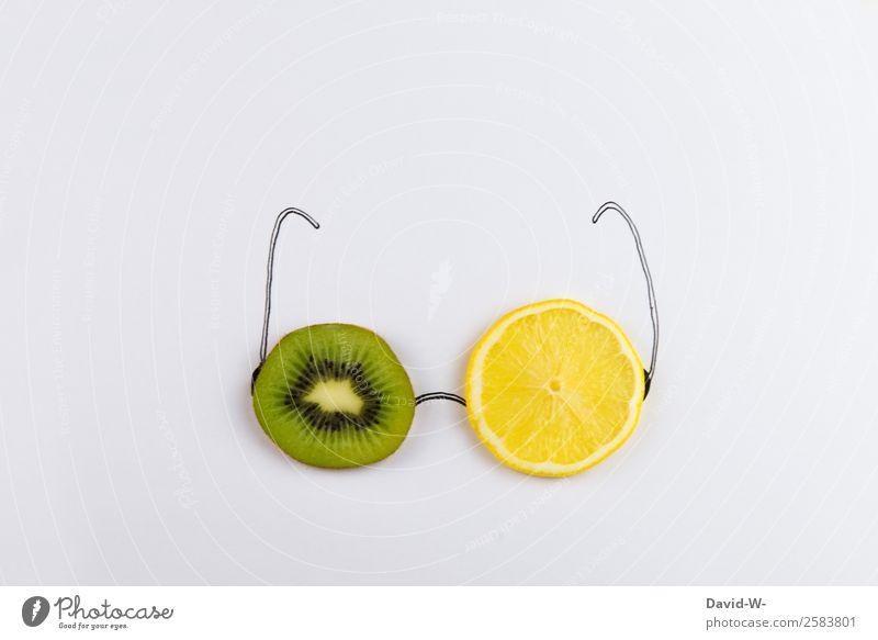 Brille mal anders Lebensmittel Frucht Bioprodukte Vegetarische Ernährung Diät Stil Design exotisch Freude Gesundheit Behandlung Alternativmedizin