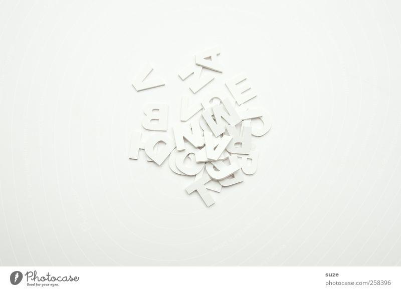 Buchstäblich weiß Stil hell Design ästhetisch Schriftzeichen Lifestyle Buchstaben Grafik u. Illustration Sauberkeit Klarheit einfach Kreativität Idee