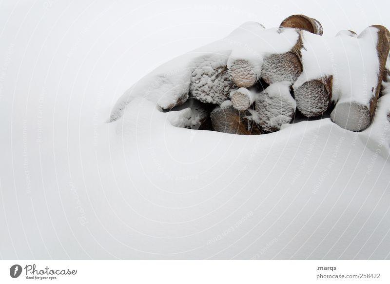 Vorrat Natur weiß Winter kalt Schnee Umwelt Holz Eis Energie Energiewirtschaft Frost Landwirtschaft Baumstamm Stapel Klimawandel Forstwirtschaft