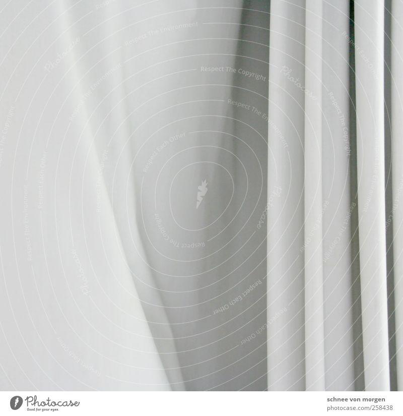 """verhangen Haus Dekoration & Verzierung """"stoff vorhang material falten gardine"""" elegant weiß ästhetisch Schwarzweißfoto Innenaufnahme Menschenleer Licht Schatten"""