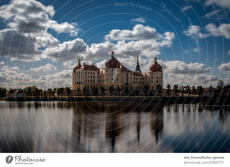 Schloss Moritzburg Natur Landschaft Wasser Himmel Schönes Wetter Baum Garten Park Teich See Jagdschloss Moritzburg Dresden Deutschland Europa Burg oder Schloss