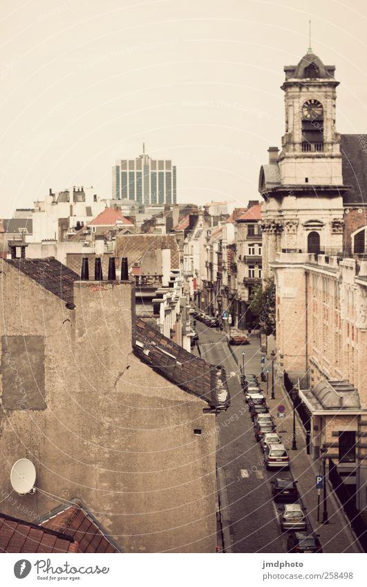 Brüssel Ferien & Urlaub & Reisen Stadt Einsamkeit Straße Lifestyle Tourismus Hochhaus groß Kirche Ausflug Lebensfreude Abenteuer historisch Sehnsucht entdecken