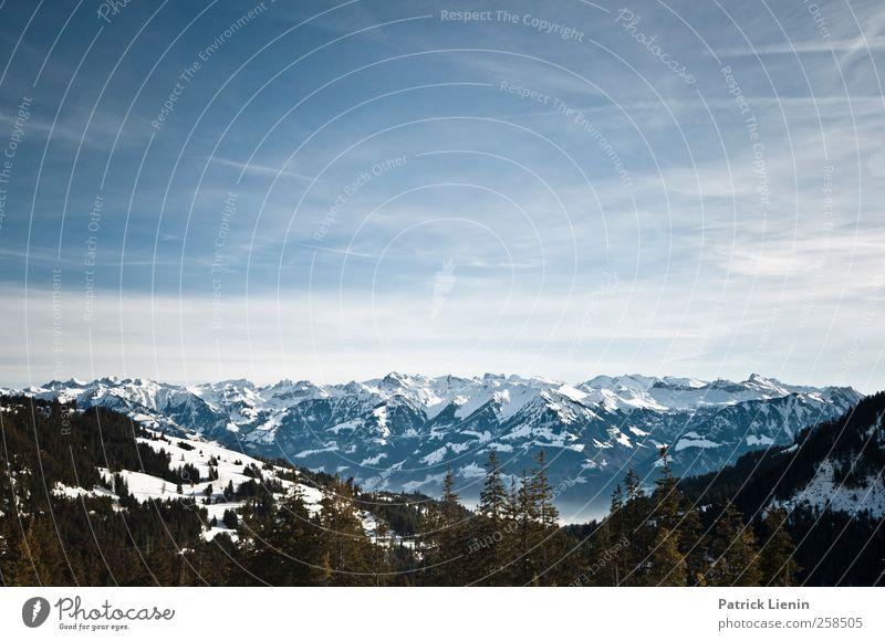 Switzerland Himmel Natur Ferien & Urlaub & Reisen Wolken ruhig Ferne Schnee Umwelt Landschaft Berge u. Gebirge Freiheit Glück Stimmung Wetter Horizont