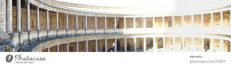 Alhambra Grananda Architektur groß Andalusien Spanien Panorama (Bildformat) Bogen Tempel Granada