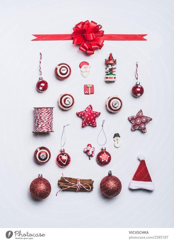 Weihnachten Dekoration Objekte auf weiß kaufen Stil Design Winter Dekoration & Verzierung Feste & Feiern Weihnachten & Advent Zeichen Ornament Tradition