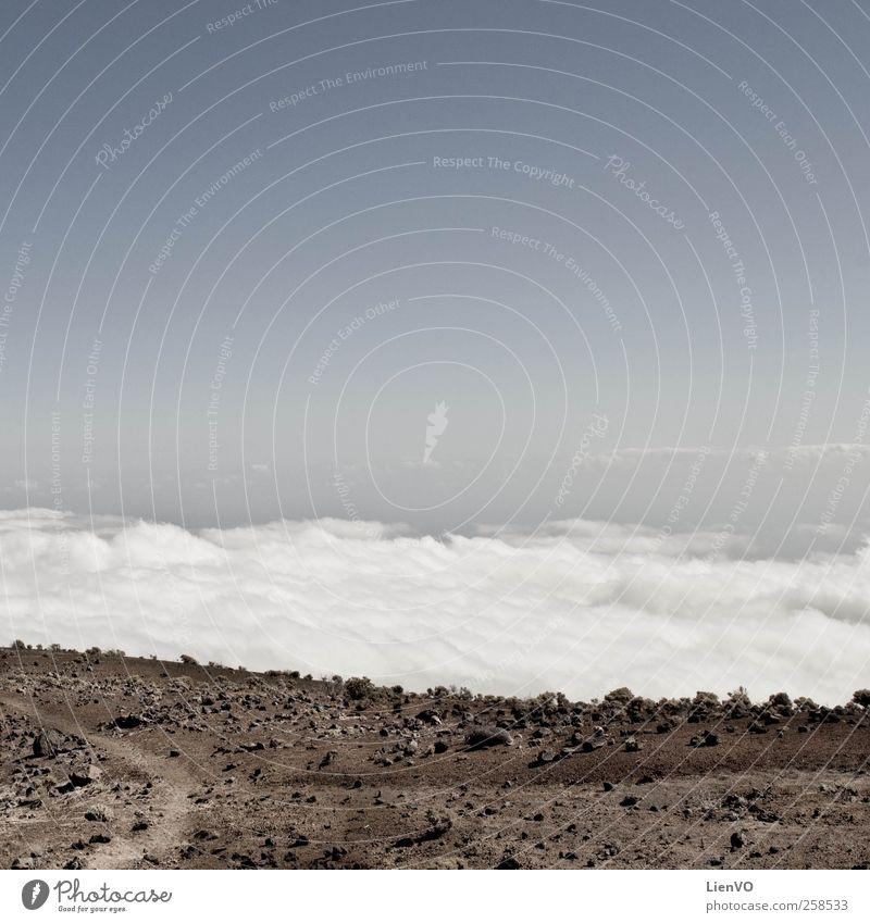 Himmel blau Wolken ruhig Ferne Landschaft Berge u. Gebirge Sand Stein träumen braun Horizont Erde Ausflug frei entdecken