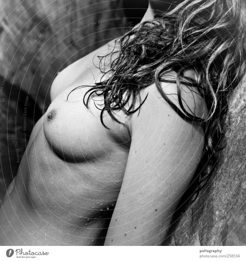 relax Frau Mensch Jugendliche schön Erwachsene Erholung feminin Leben Erotik nackt Haare & Frisuren Körper Arme Haut nass Wassertropfen