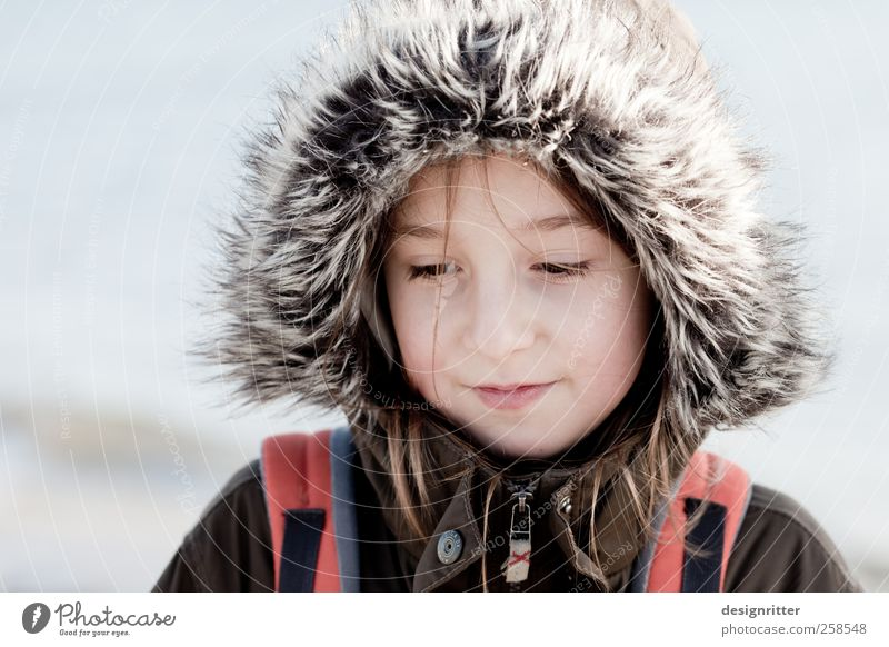 Löwenmädchen Kind Mädchen Winter ruhig Kindheit niedlich Fell Schutz Jacke 8-13 Jahre Mantel Kapuze Pelzmantel Mensch Pelzjacke Kapuzenjacke