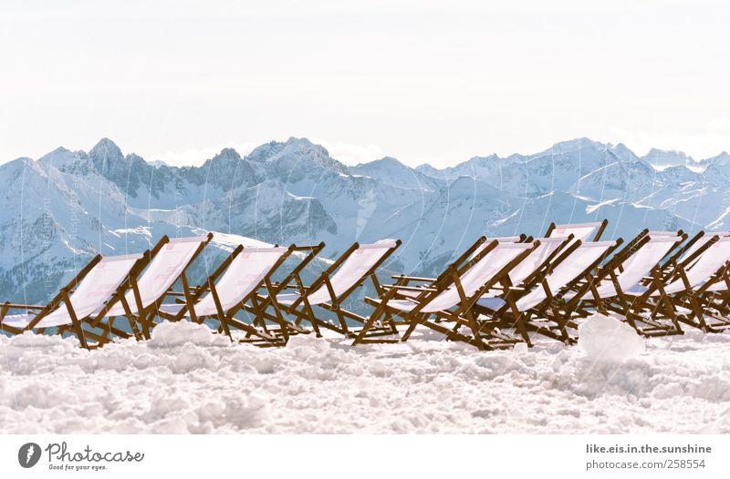 gedankliche wochenendverlängerung Ferien & Urlaub & Reisen Erholung Landschaft Winter Ferne Umwelt Berge u. Gebirge Schnee Freiheit Eis Zufriedenheit Tourismus