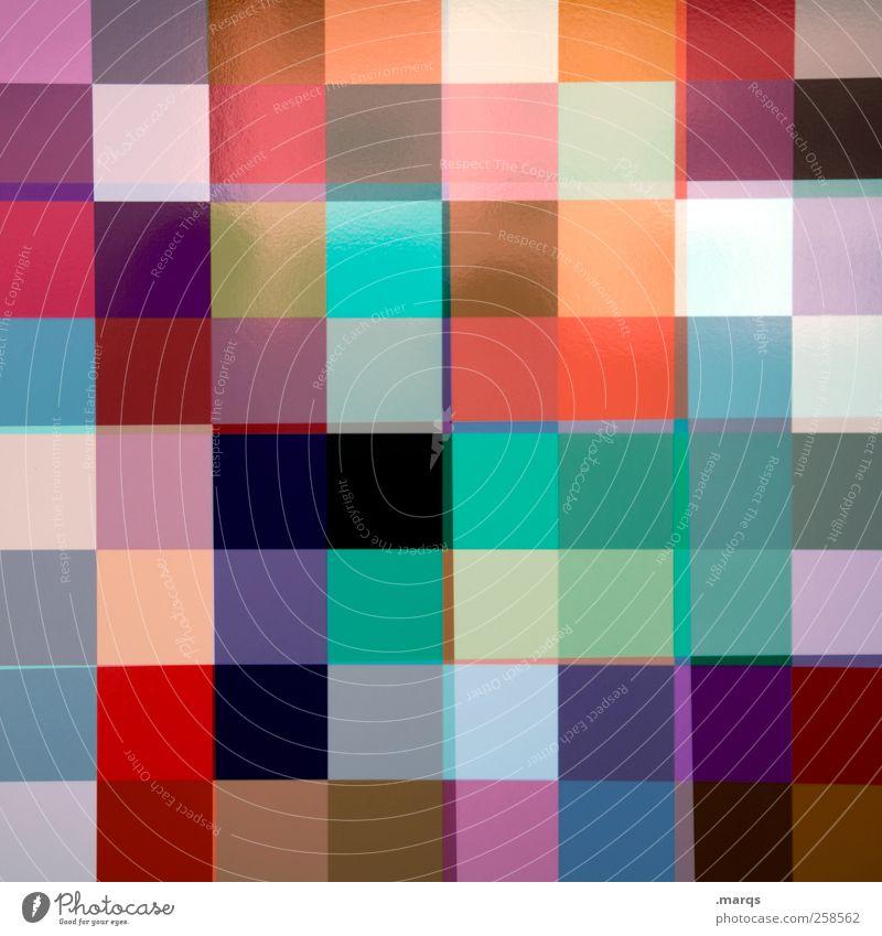 Pixel schön Farbe Stil Hintergrundbild Design modern verrückt außergewöhnlich Lifestyle Coolness viele Kreativität Fliesen u. Kacheln trendy Doppelbelichtung Geometrie