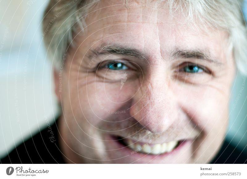 Pinocchio Mensch maskulin Mann Erwachsene Leben Kopf Auge Nase Mund Zähne 1 45-60 Jahre Haare & Frisuren grauhaarig Lächeln lachen Freundlichkeit Fröhlichkeit