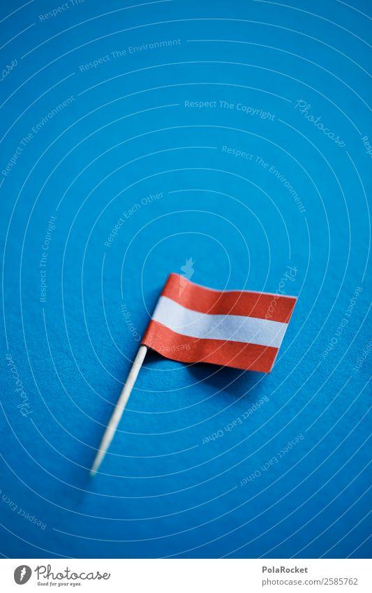 #A# Flagge Rot-Weiß Kunst ästhetisch Fahne Österreich Symbole & Metaphern rot weiß Käse Nationalflagge Nationalfeiertag Farbfoto mehrfarbig Außenaufnahme