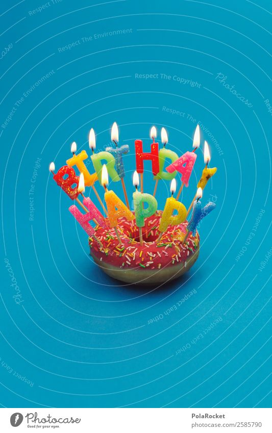 #A# Happy Birthday Donut Kunst ästhetisch Geburtstag Geburtstagstorte Geburtstagsgeschenk Geburtstagswunsch Glückwünsche Jubiläum Feste & Feiern Kerze