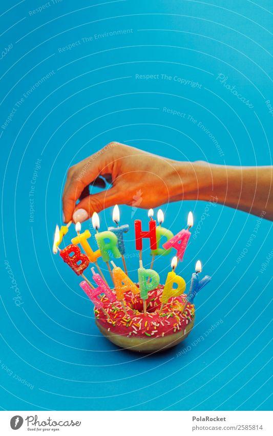 #A# Geburtstags-Vorbereitungen Kunst ästhetisch Geburtstagstorte Geburtstagsgeschenk Geburtstagswunsch Kerze anzünden Hand Jubiläum Farbfoto mehrfarbig